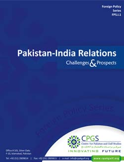 Pakistan – India Relations: Challenges and Prospects
